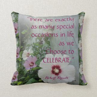 American MoJo Pillow Celebrate, Paradise Quotes Throw Cushion
