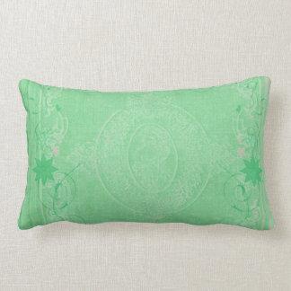 American MoJo Pillows Mint Green Antique Scroll