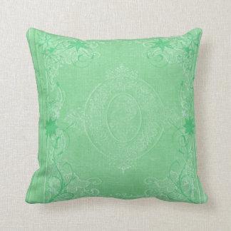 American MoJo Pillows Mint Green Antique Scroll Throw Cushions