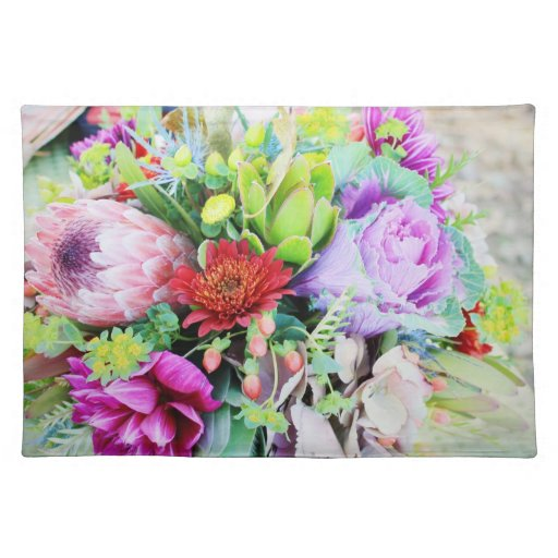 """American MoJo Placemats """"Bouquet of Flowers Weddin"""