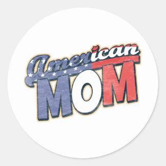 American Mom Round Sticker