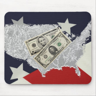 American Money & Flag Mousepad