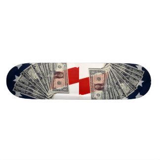 American Money & Flag Skateboard