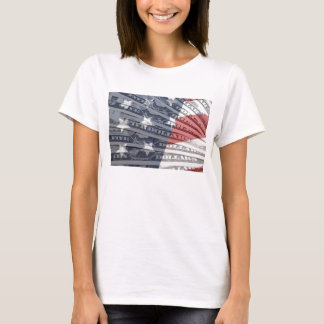 American Money & Flag Woman's T-Shirt