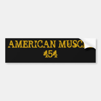 AMERICAN MUSCLE 454 BUMPER STICKER
