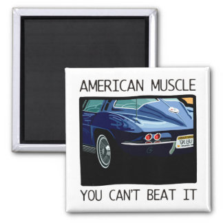American muscle car, classic and vintage blue V8 Magnet