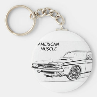 American Muscle Car Keychain