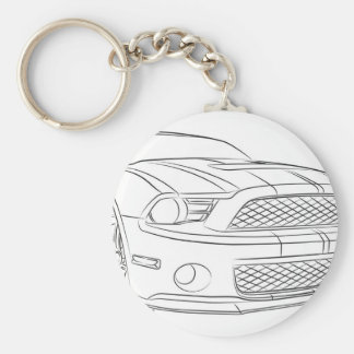 American muscle car keychain