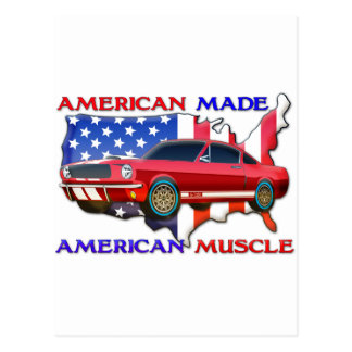 American Muscle Car Postcard