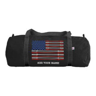 American Muscle - USA Flag Gym Bag Gym Duffel Bag