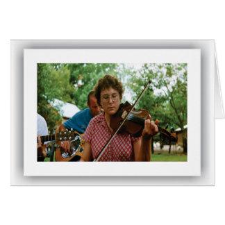 American Music - Violinist, Notecard