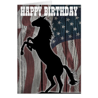 American Mustang running wild Greeting Cards