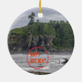 American National Parks Photography Round Ceramic Decoration