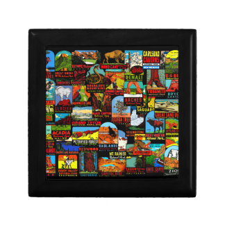 American National Parks Vintage Decal Bomb Gift Box