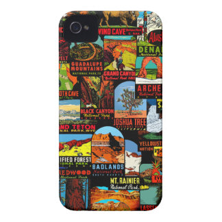 American National Parks Vintage Decal Bomb iPhone 4 Case-Mate Case