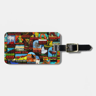 American National Parks Vintage Decal Bomb Luggage Tag