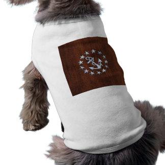 American Nautical Yacht Flag Wet Look Sleeveless Dog Shirt