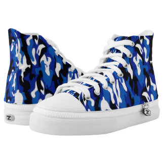American Navy camouflage High Tops Printed Shoes
