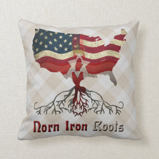 American Northern Irish Ancestry Cushion