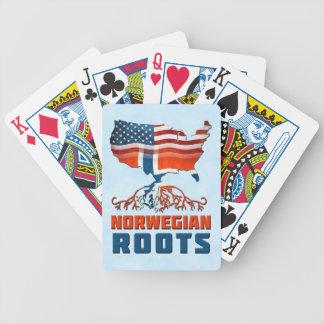 American Norwegian Roots Card Deck Poker Deck