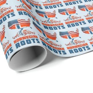American Norwegian Roots Gift Wrap
