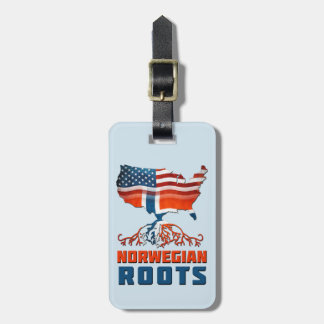 American Norwegian Roots Luggage Tag Template