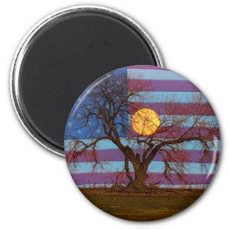 American November Supermoon 6 Cm Round Magnet