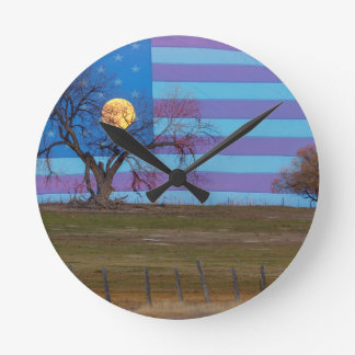 American November Supermoon Round Clock