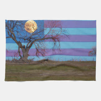 American November Supermoon Tea Towel