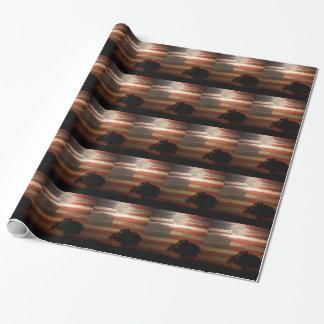 American November Supermoon Wrapping Paper