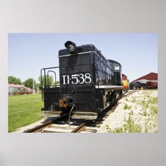 American Old Diesel Train Poster