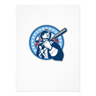 American Patriot Baseball Bat Retro Personalized Invitation