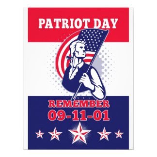 American Patriot Day Poster 911 Greeting Card Invite