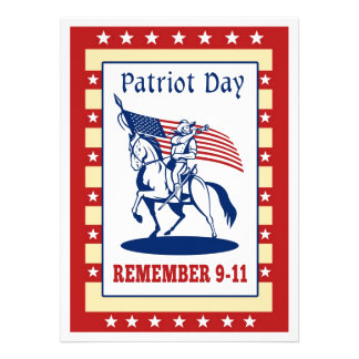 American Patriot Day Remember 911  Greeting Card Personalized Invites