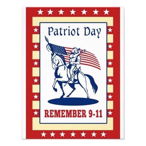 American Patriot Day Remember 911  Greeting Card Custom Announcement