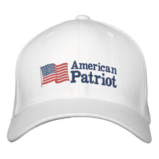 American Patriot Flag W Embroidered Hat