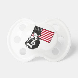 American Patriot Holding Flag Retro Dummy