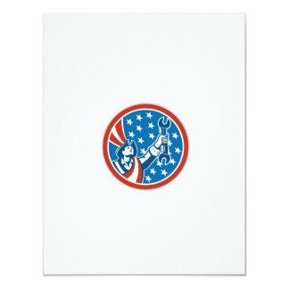 American Patriot Holding Spanner Circle Retro Custom Invite