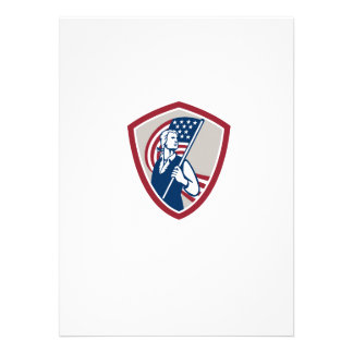 American Patriot Holding USA Flag Shield Personalised Invitations
