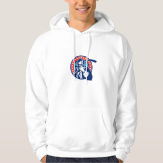 American Patriot Ice Hockey Stick Circle Retro Hoodie