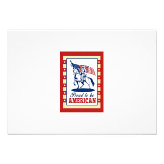 American Patriot Independence Day Poster Greeting Personalized Announcements