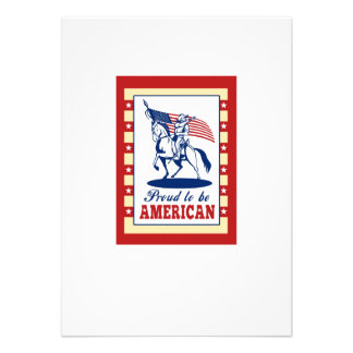 American Patriot Independence Day Poster Greeting Custom Invites
