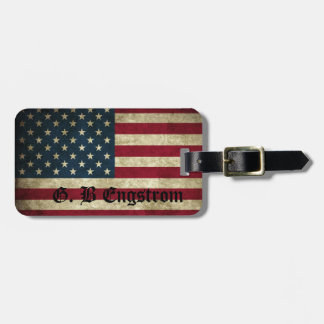 AMERICAN PATRIOT LUGGAGE TAG - CUSTOM NAME TEMPLAT