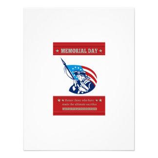 American Patriot Memorial Day Poster Greeting Card Custom Invite