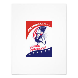 American Patriot Memorial Day Poster Greeting Card Announcements