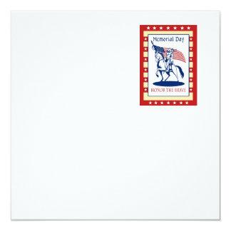 American Patriot Memorial Day Poster Greeting Card Invitation