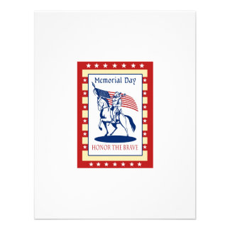 American Patriot Memorial Day Poster Greeting Card Personalized Invitations