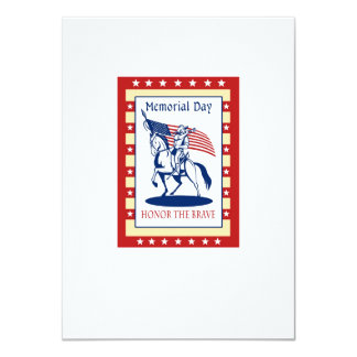 American Patriot Memorial Day Poster Greeting Card Custom Invites