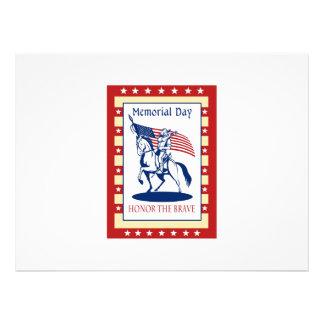 American Patriot Memorial Day Poster Greeting Card Custom Announcement
