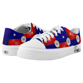American Patriot Patchwork Zipz Shoes Printed Shoes